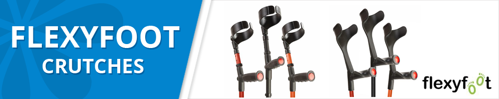 Flexyfoot Shock Absorbing Adult Crutches